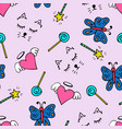 lovely seamless pattern with a hand-drawn doodles vector image vector image