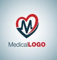 medical logo 7 vector image vector image