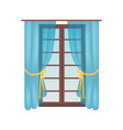 modern wooden window colorful vector image vector image
