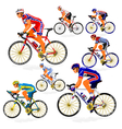 National cyclist 4 vector image