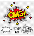 oh my god comic vector image