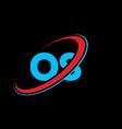 os o s letter logo design initial letter os vector image vector image