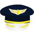 pilot hat vector image vector image