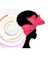 portrait african woman wears fashion bandana vector image