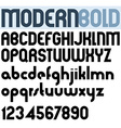 Poster modern bold black font and numbers vector image vector image