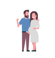 pregnant smiling wife happy husband full length vector image vector image