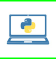 python programming language vector image