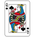 queen of spades french version vector image vector image