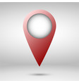 red map pointer isolated vector image vector image