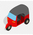 red tuk tuk isometric icon vector image vector image