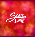 save date event stationery with white text vector image vector image