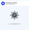 sea urchin icon filled flat sign solid vector image vector image