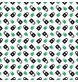 seamless pattern - green and black padlocks vector image