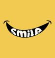 smile logo icon on yellow background happy vector image