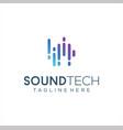 sound wave logo design equalizer music vector image vector image