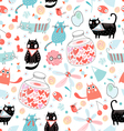texture cat lovers vector image vector image