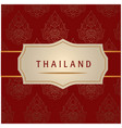 thailand white frame red background image vector image vector image