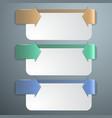 Three steps vector image