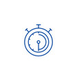 timerstopwatchclock line icon concept timer vector image vector image
