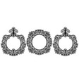 Vintage baroque frame decor set collection