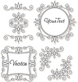 Vintage frames and ornaments vector image