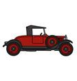 Vintage red roadster vector image vector image