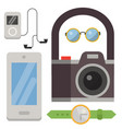 vintage styled design hipster icons signs vector image vector image