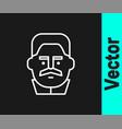 white line portrait joseph stalin icon isolated vector image vector image