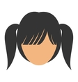 woman female head avatar design vector image