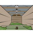 Wooden shed vector image