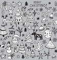 Set of hand drawn sketchy christmas elements vector image
