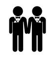 Gay marriage icon vector image
