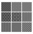 Monochrome geometric seamless textures vector image