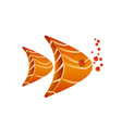 aquarium fish composition of salmon slices vector image