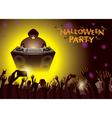 Halloween DJ Party Concert vector image