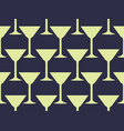 seamless pattern with a martini glass vector image
