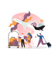 airport concept for web banner website vector image