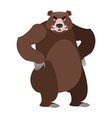 Angry bear on its hind legs Aggressive Grizzly on vector image vector image