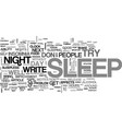 are you tired of insomnia text word cloud concept vector image vector image