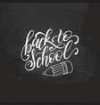 back to school handwritten with vector image vector image