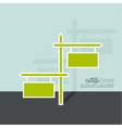 Background with direction arrow sign vector image vector image