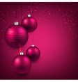 Background with magenta christmas balls vector image vector image