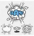 banf comic effect vector image vector image
