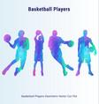 Basketball players geometric pack