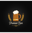 beer mug vintage design background vector image vector image
