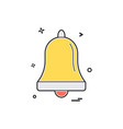 bell alarm ring icon design vector image