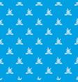 brazil carnival pattern seamless blue vector image vector image