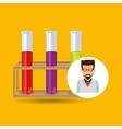 Character scientist chemistry test tube rack vector image