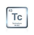 Chemical element technetium from periodic table