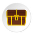 chest icon circle vector image vector image